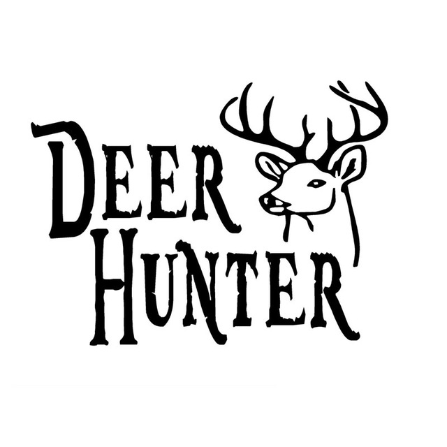 640x640 12.7cm9.3cm Deer Hunter Decal Buck Head Hunting Car Sticker Car