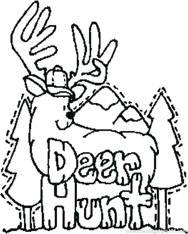 650x806 Hunting Coloring Pages Hunting Coloring Pages For Kids Deer