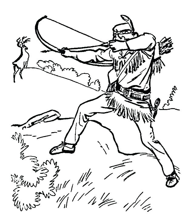600x734 Best Of Hunting Coloring Pages Images Hunting Release His Arrow