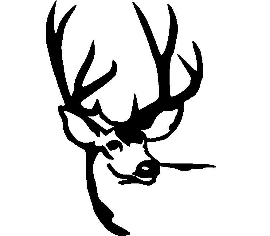 879x768 Deer Hunting Logos Deer Head Silhouette Logos
