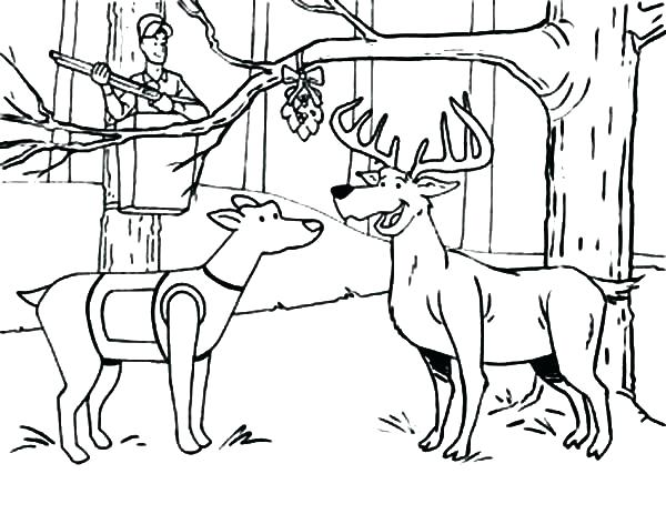 600x463 best of hunting coloring pages images a hunter hunting in the boat - Deer Coloring Pages 2