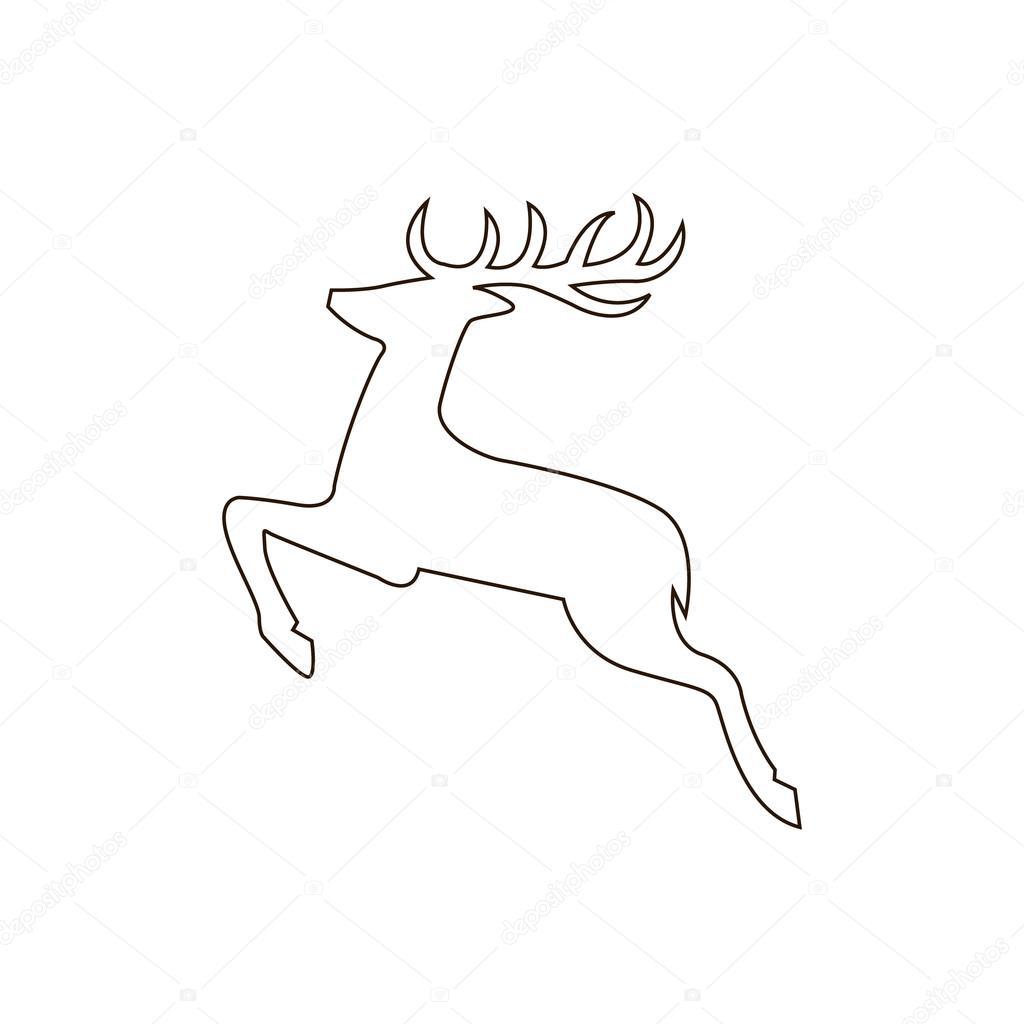 Deer Outline Drawing at GetDrawings.com | Free for personal use Deer ...