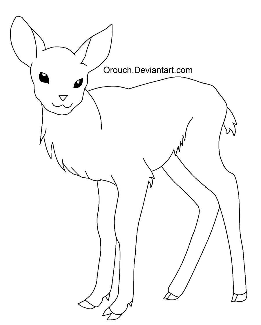 Line Art Deer : Deer outline drawing at getdrawings free for