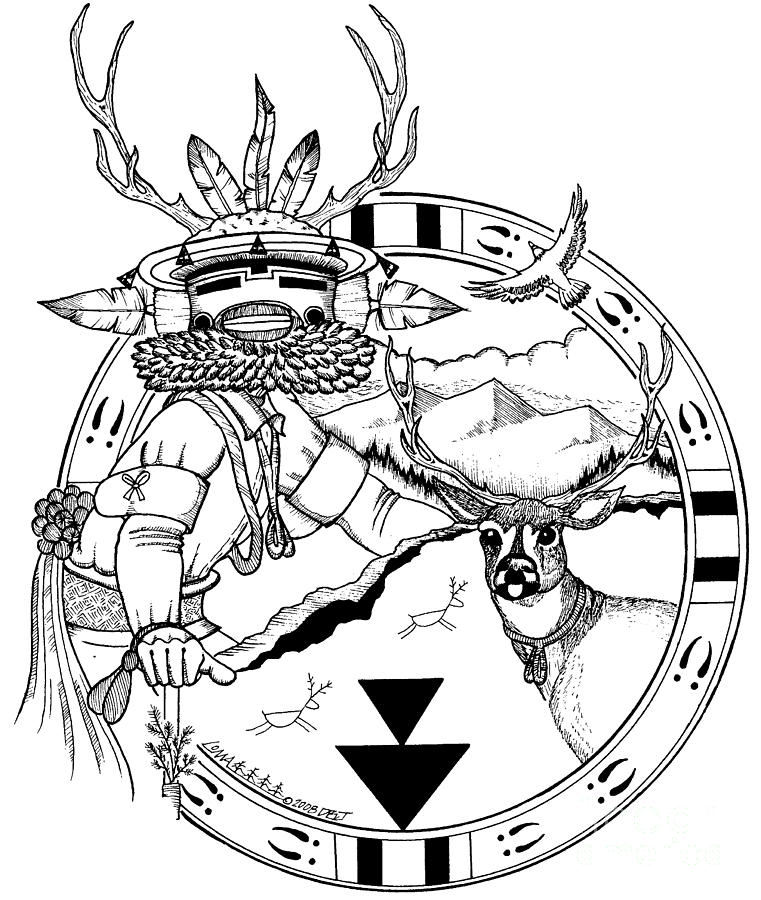 761x900 Deer Brotherhood Drawing By Dalton James