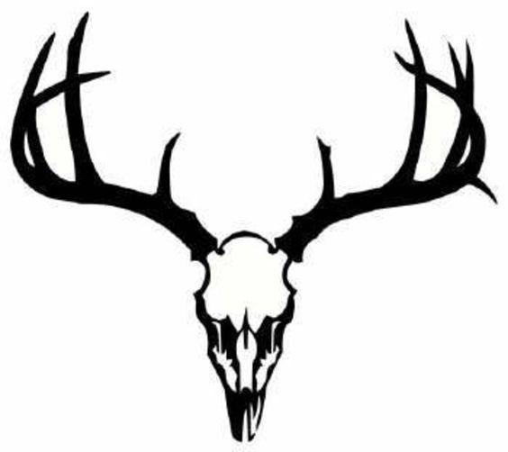 564x502 Dear Skull Deer Image Vector Clip Art