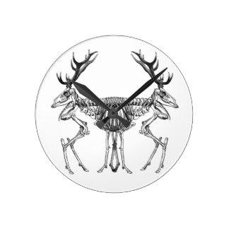 324x324 Deer Skeleton Wall Clocks Zazzle