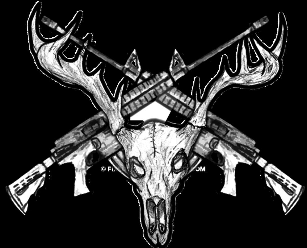 Deer Skull Drawing