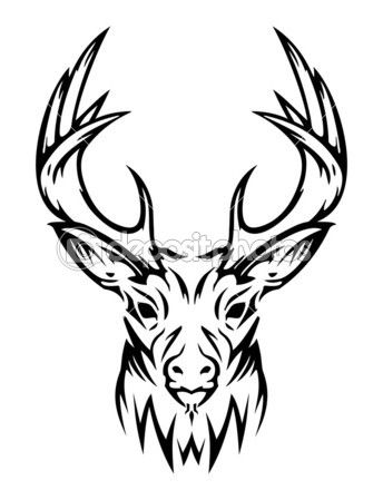 344x449 Deer Skull Drawings Images Of Deer Skull Clip Art Pictures