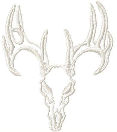 391x443 Instant Download Deer Skull Outline Machine Embroidery Design
