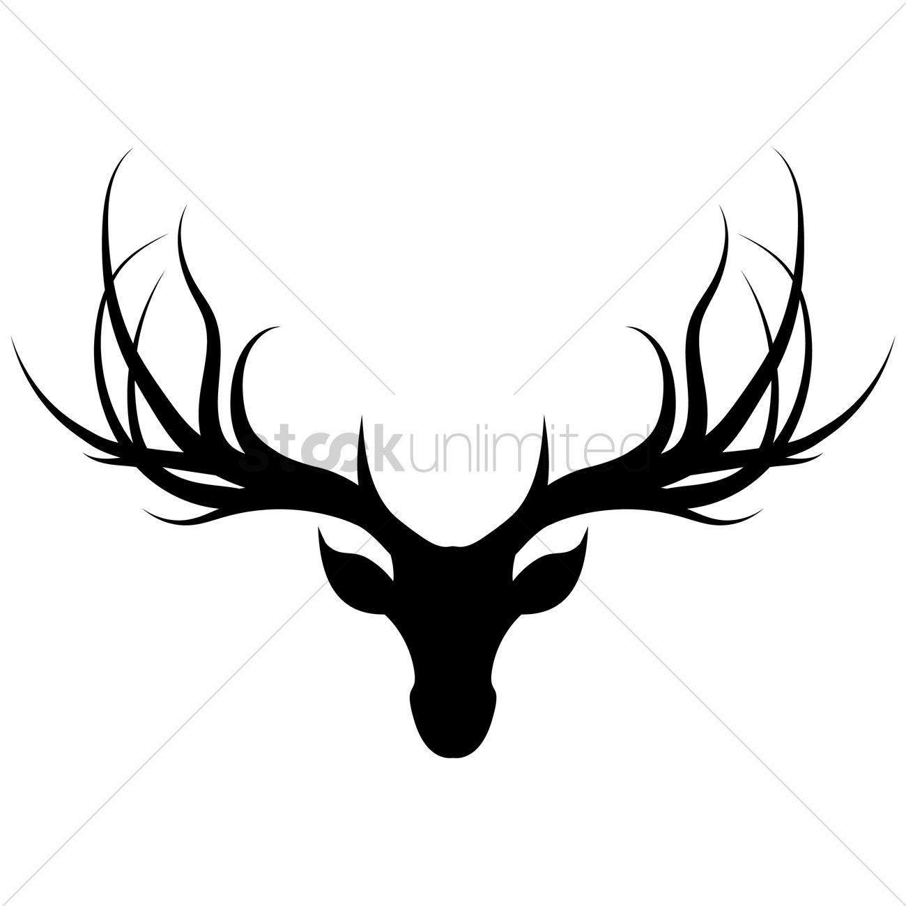 1300x1300 Deer Head Vector Image