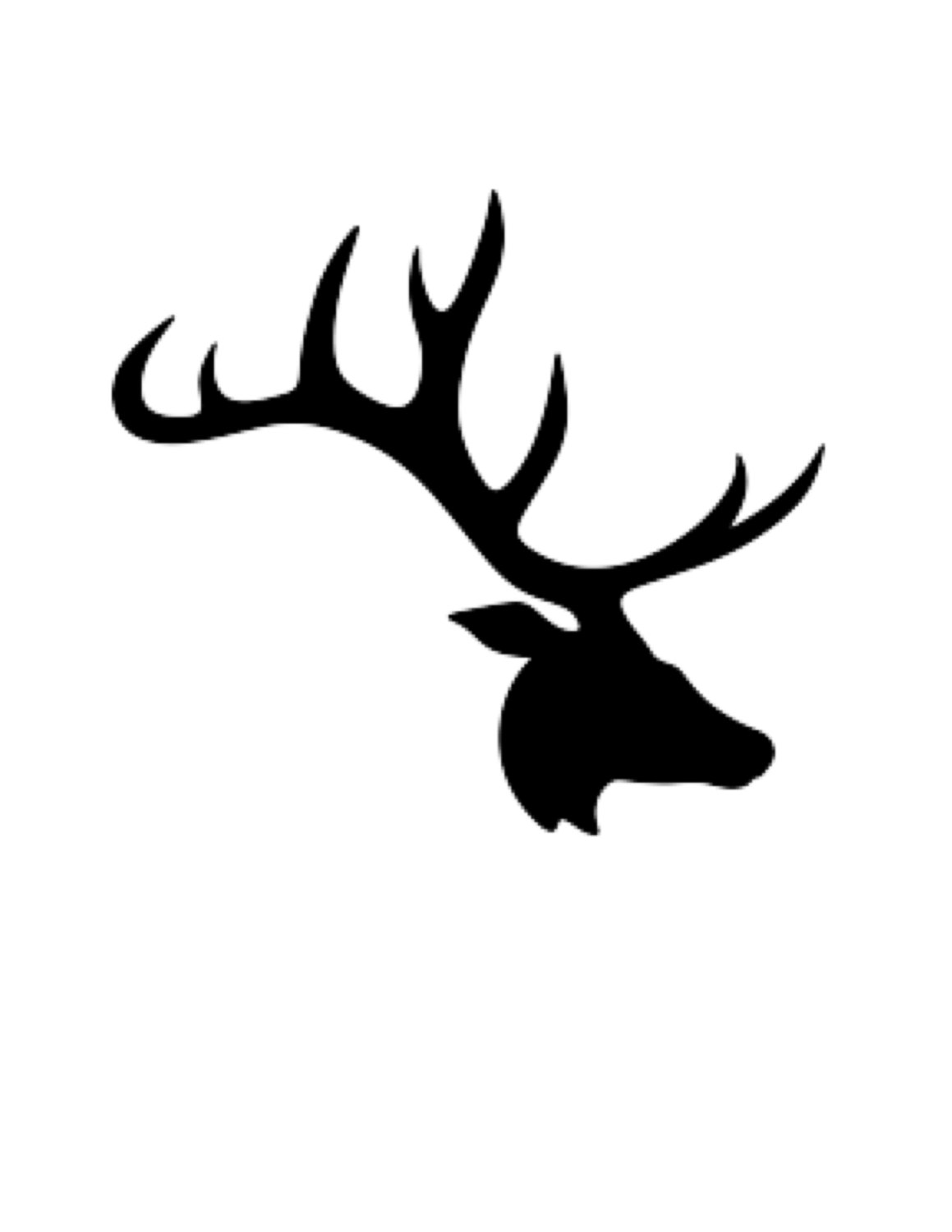 1159x1500 Pack Of 3 Deer Large Antlers Stencils Made From 4 Ply Mat Board