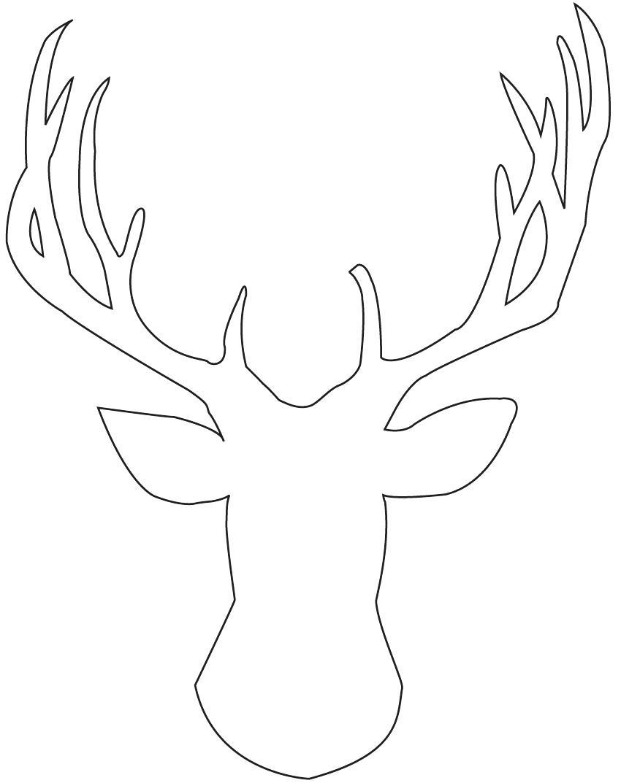 850x1073 Printable Deer Head Stencil Printable