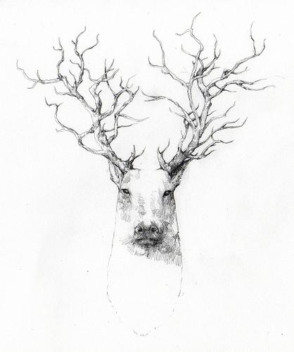 418x500 Tree Antlers I N K Antlers, Inspirational Artwork