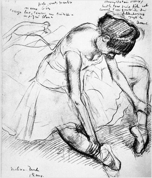 500x585 Edgar Degas