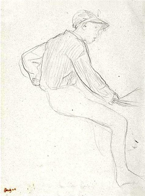 474x641 Edgar Degas Young Woman Lying On A Chaise Longue Degas