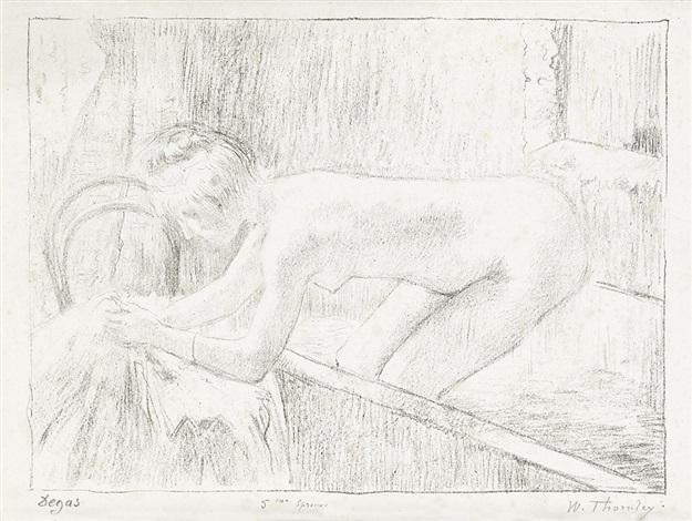 625x470 La Sortie De Bain From Quinze Lithographies By Edgar Degas