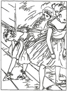 220x297 The Dancing Class By Edgar Degas Monograms Machine