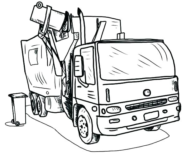 600x498 Dump Truck Box Coloring Page Caterpillar Truck Delivery Truck