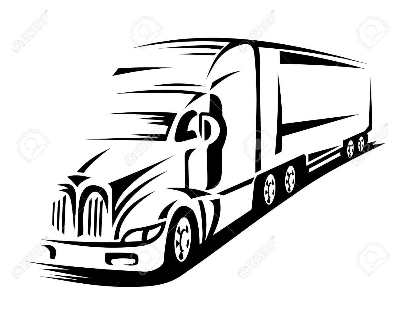 1300x1013 Moving Delivery Truck On Road For Transportation Design Or Concept