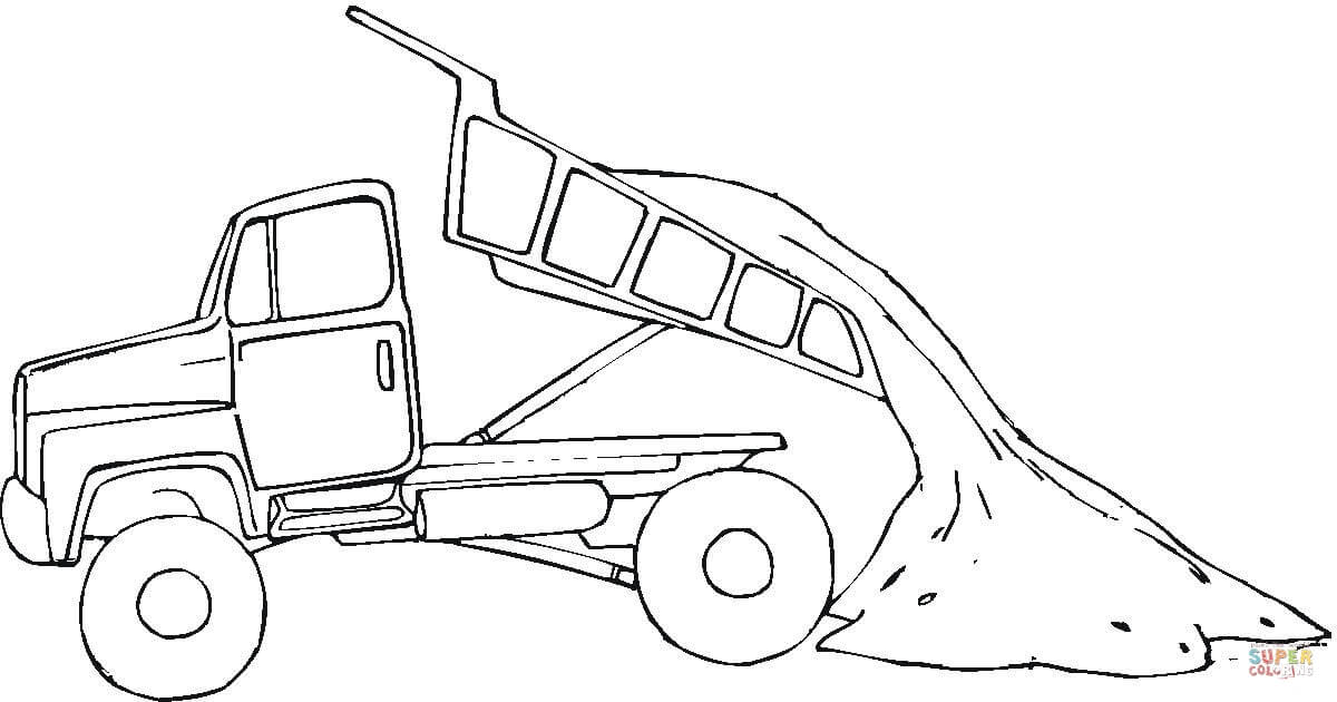 1200x630 Tipper Truck Coloring Page Free Printable Coloring Pages