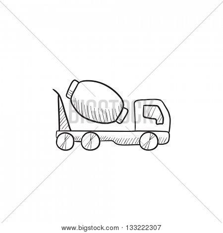 450x470 Concrete Mixer Truck Vector Sketch Vector Amp Photo Bigstock