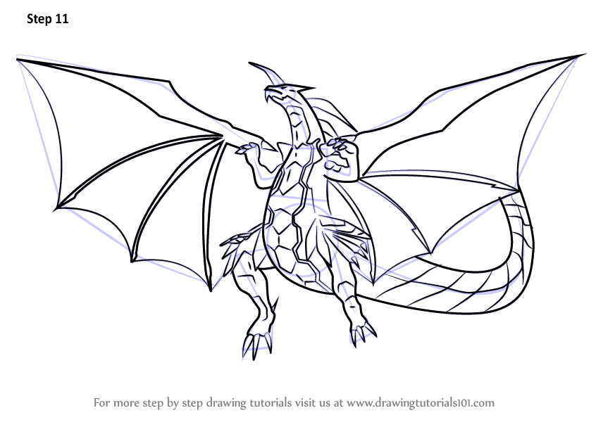 846x600 Learn How To Draw Delta Dragonoid From Bakugan Battle Brawlers