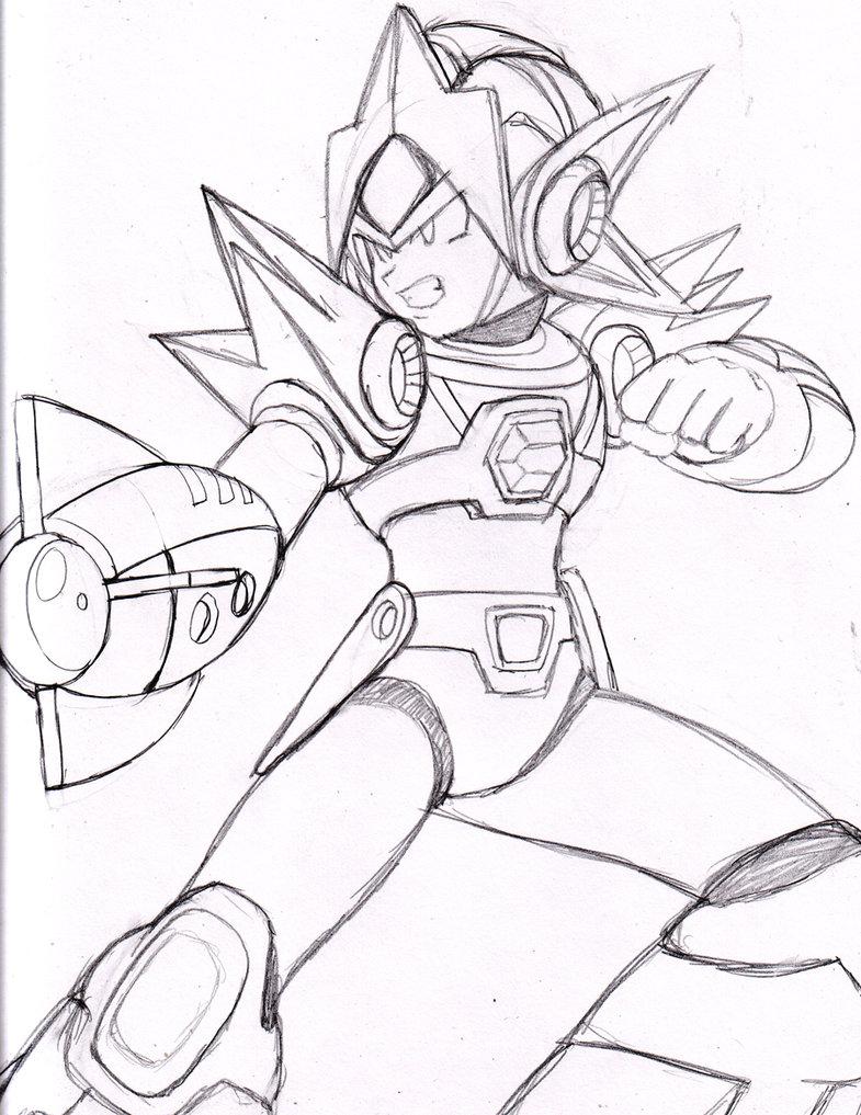785x1017 Mega Man X Delta Armor By Dariusxii