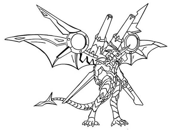 600x437 Bakugan Delta Dragonoid Coloring Pages Batch Coloring