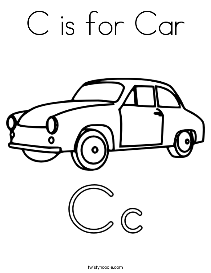 685x886 C Is For Car Coloring Page