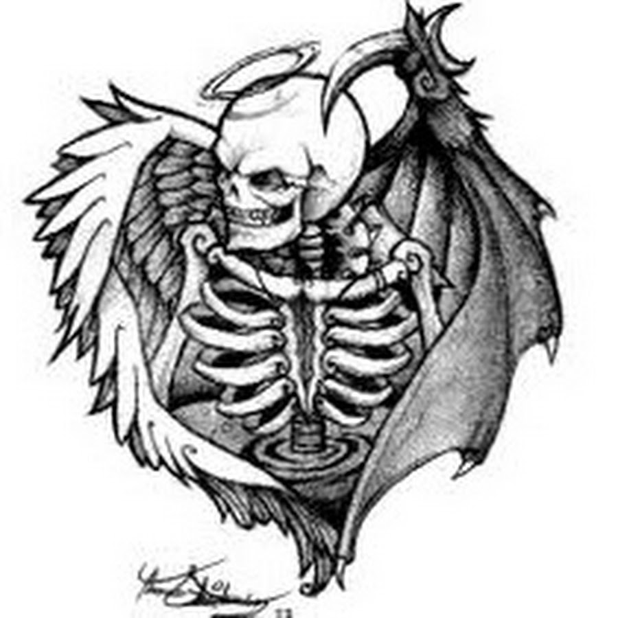 Demon Angel Drawing