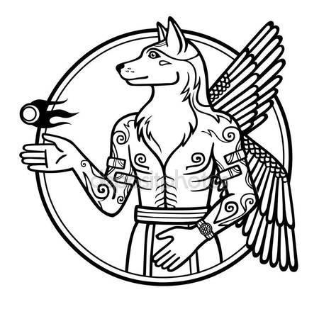 450x450 Pentagram With Demon Baphomet, Satanic Goat Head. Stock Vector
