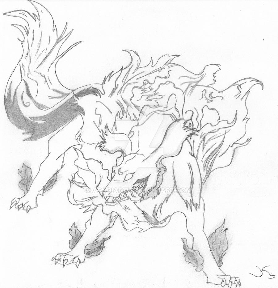 900x932 Sesshomaru's Dog Demon Form By Aradia617