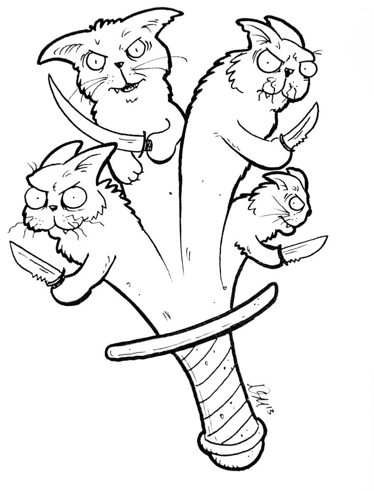 762x1000 Three Legged Demon Dog (And Other Sketches) Fuzzy Slug Studios