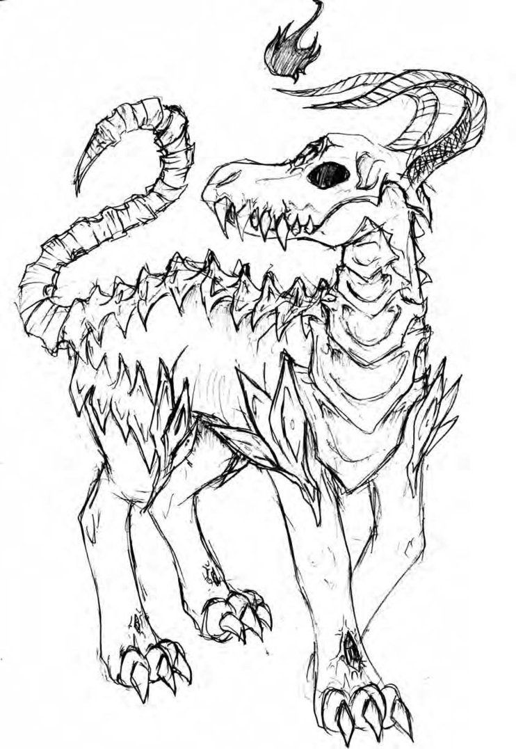 742x1076 Demonic Creature By Bloodsinners Peak