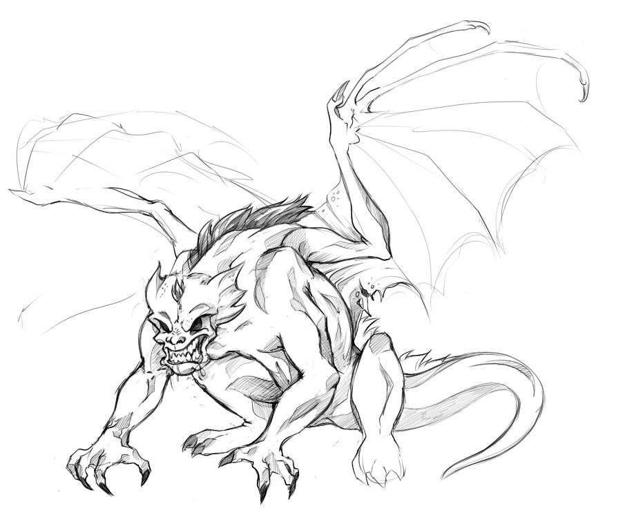 905x759 Devil Winged Gargoyle Tattoo Design Angle Demon N Gargoyles