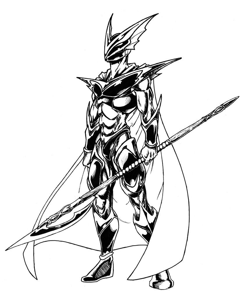 838x1000 Dragon Warrior By Darkdragoonlord