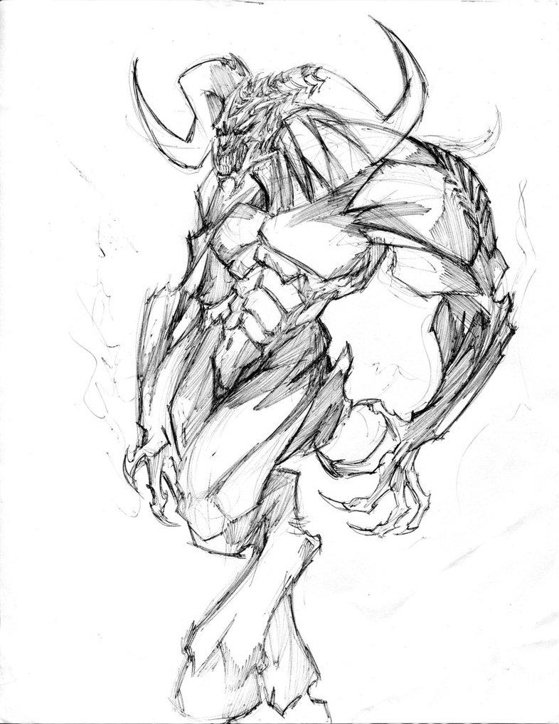 786x1017 Monstrous Demon By Winddragon24