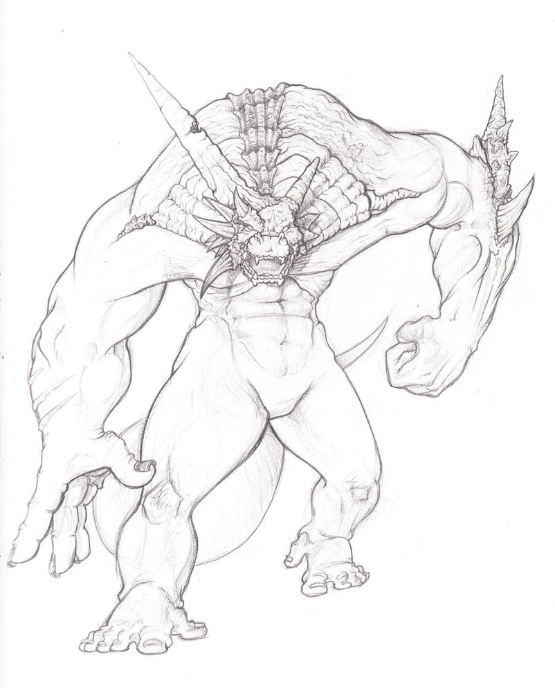 802x995 Demon Dragon Guy By Ducttapequeen