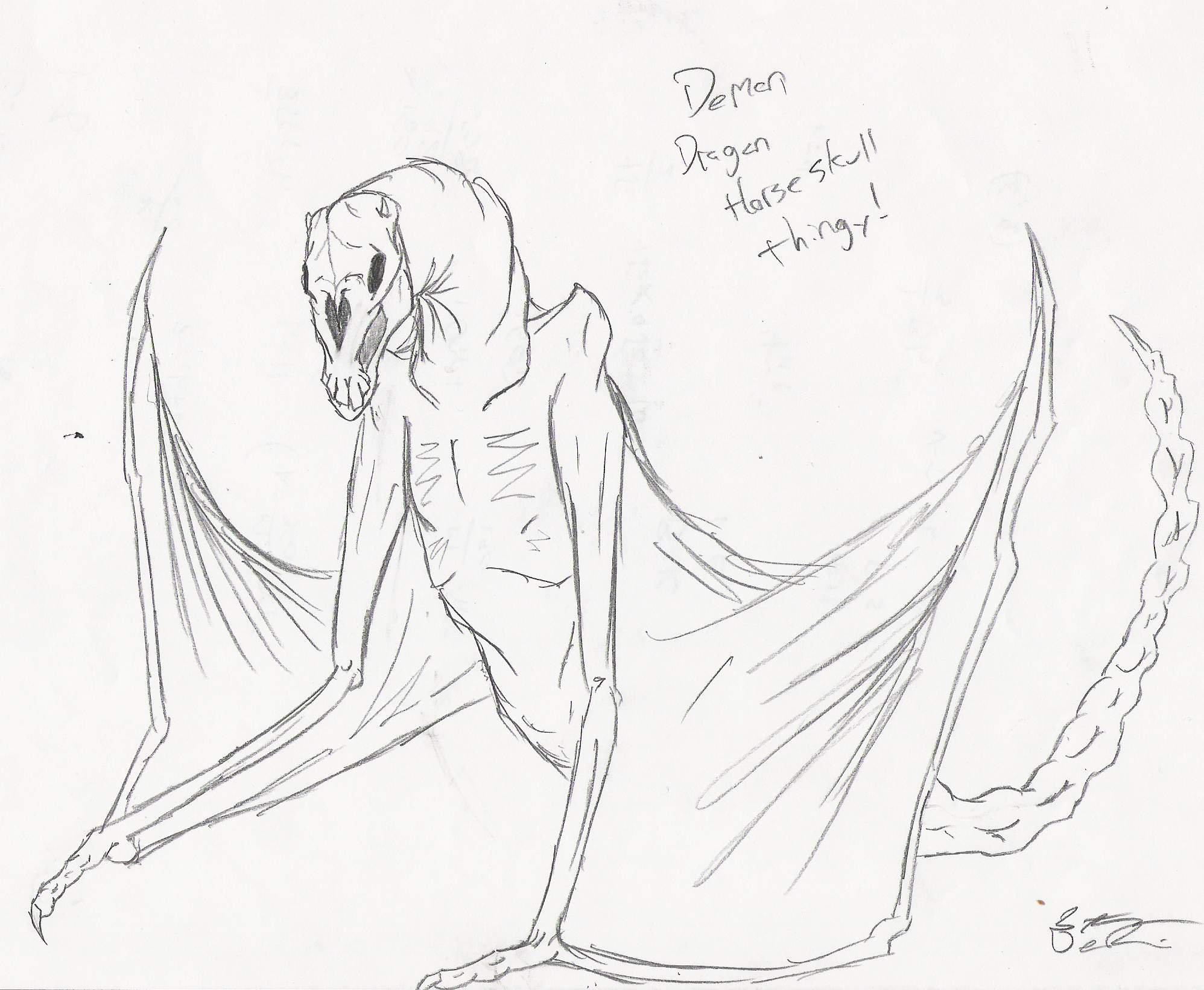 1996x1640 Demon Dragon Horse Skull Thing By Paleoartist