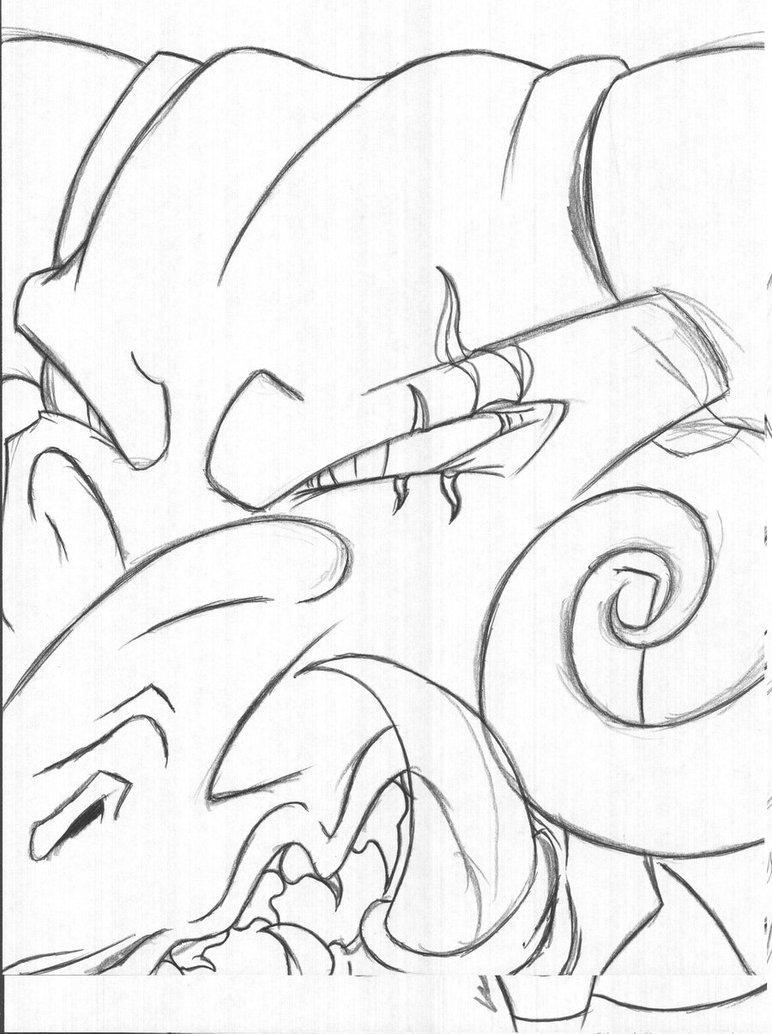 772x1034 Demon Dragon Headshot By Werewolf Krai