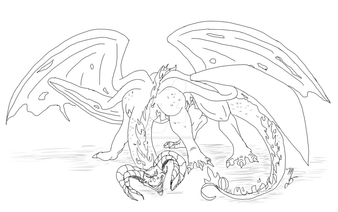 1128x708 Demon Dragon ~art Trade~ By Mistressdragoness