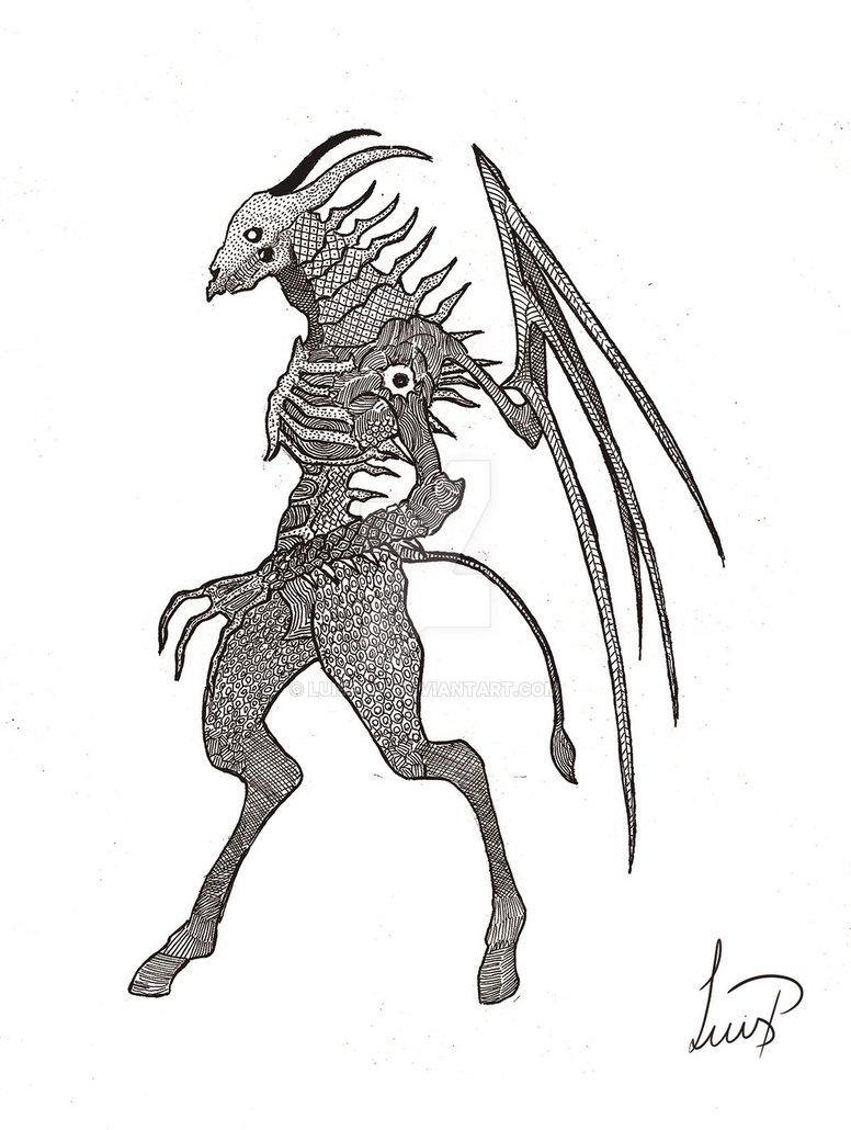 776x1030 Demon Dragon By Luisp001