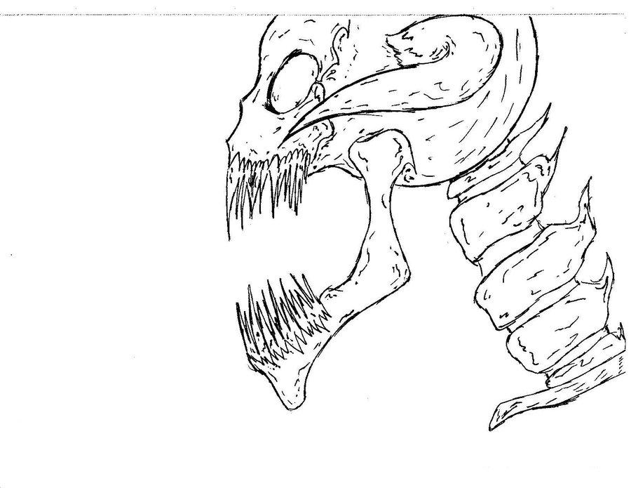 900x695 Demon Skull By Neondarkfire65