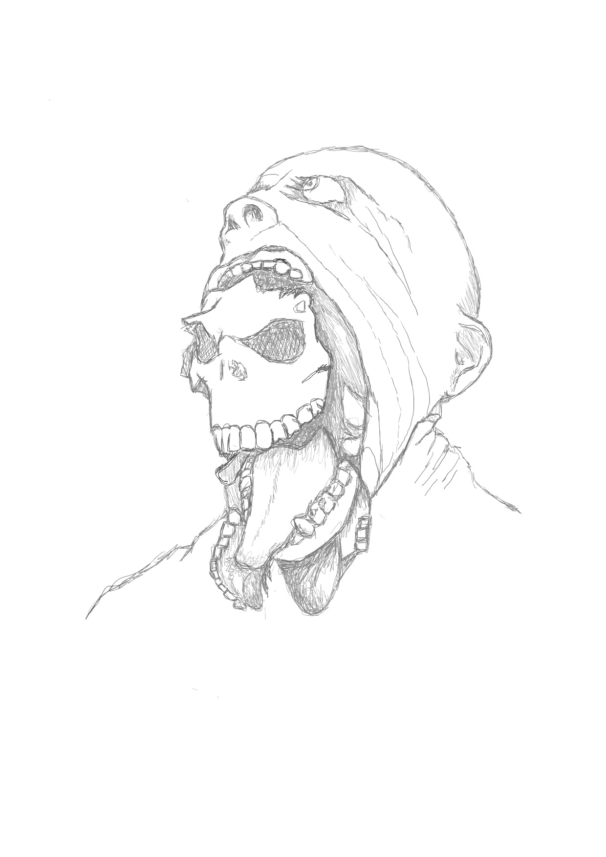 1240x1754 Demon Face Quick Sketch By Mad Mind