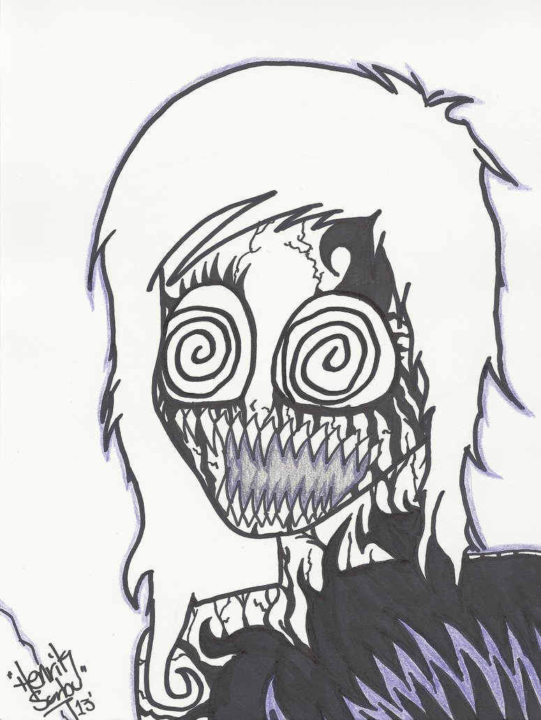 775x1030 Demon Girl Zombie Cartoon Drawing By Rainfts