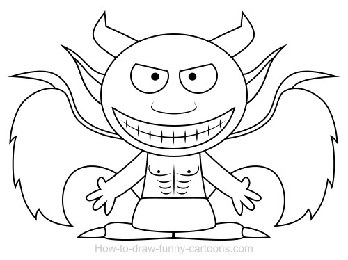 500x374 Drawing A Demon Cartoon