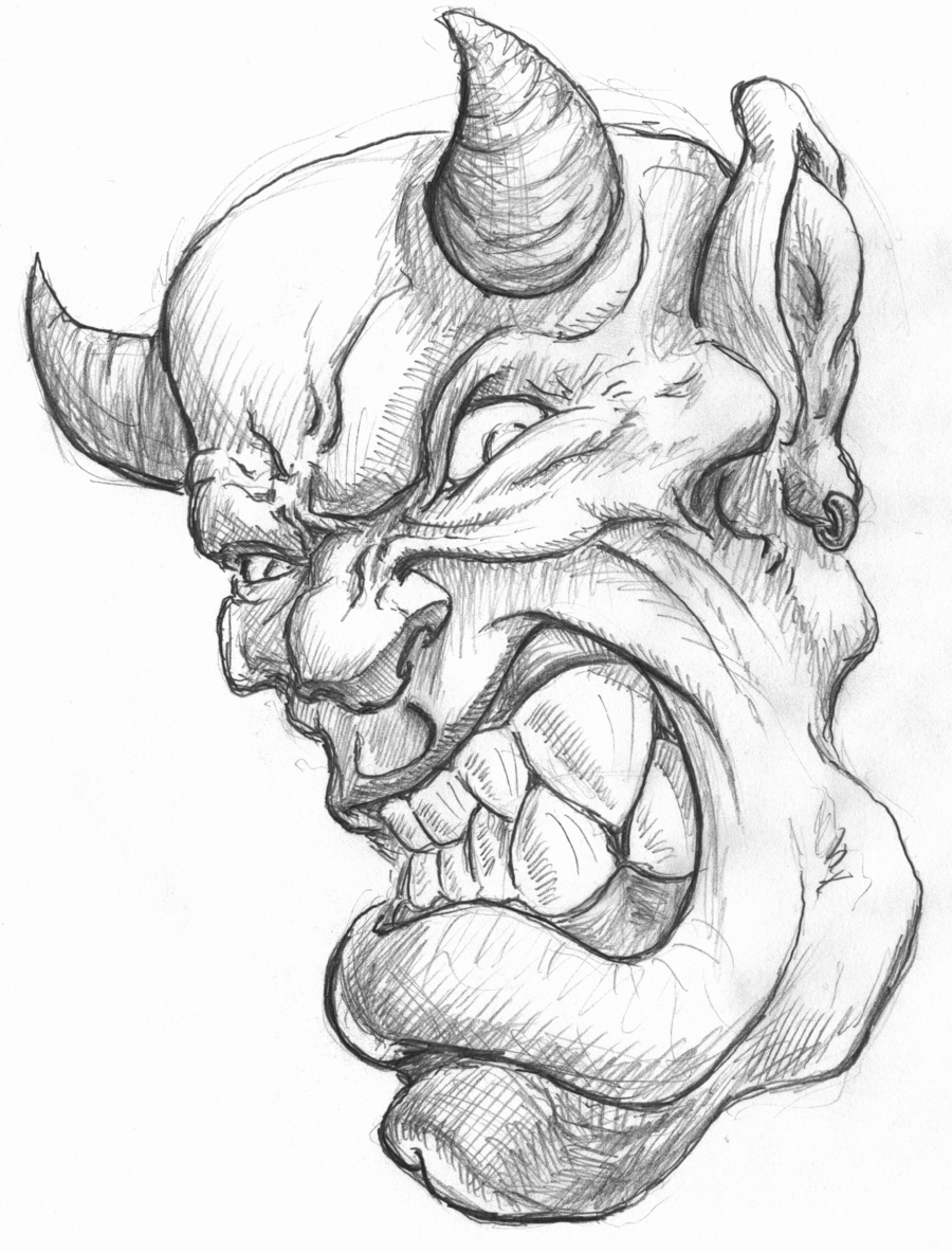 900x1183 Pencil Drawings Of Demons Pencil Drawing Demonstration