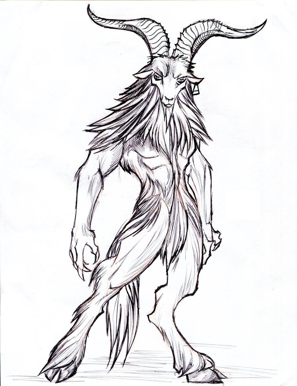 1024x1331 Satyr Goat Demon By Winddragon24