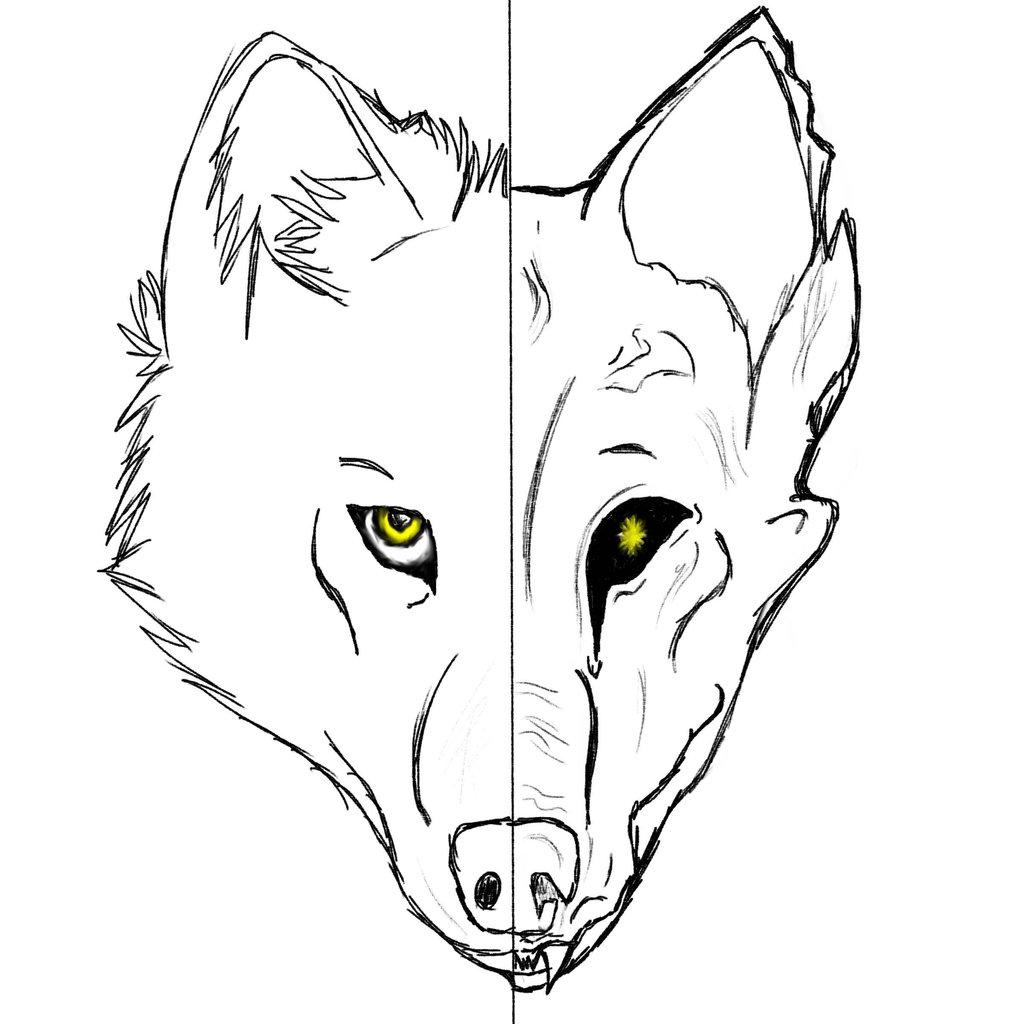 1024x1024 Wolfdemon Sketch By Lumithewolf