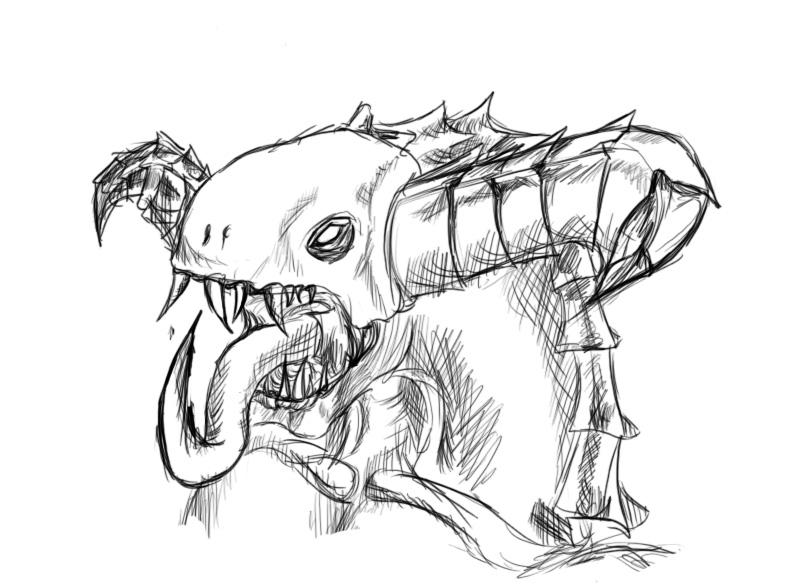 794x585 Inner Demon Sketch By Ghost010